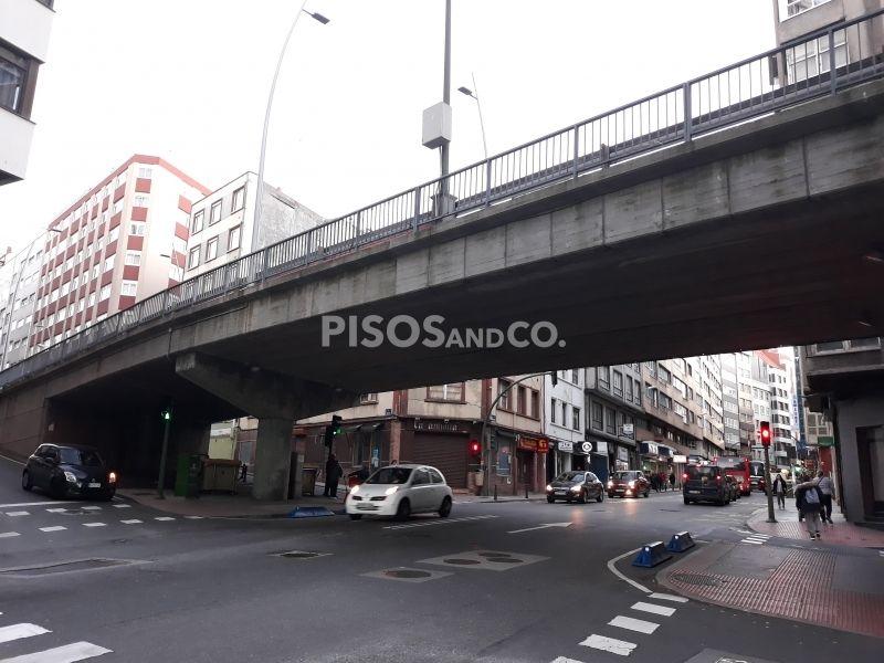 Comienza la demolición del viaducto de la Ronda de Nelle en A Coruña.