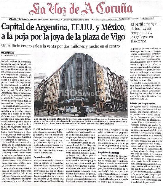 Pisos And Co. en La Voz de A Coruña