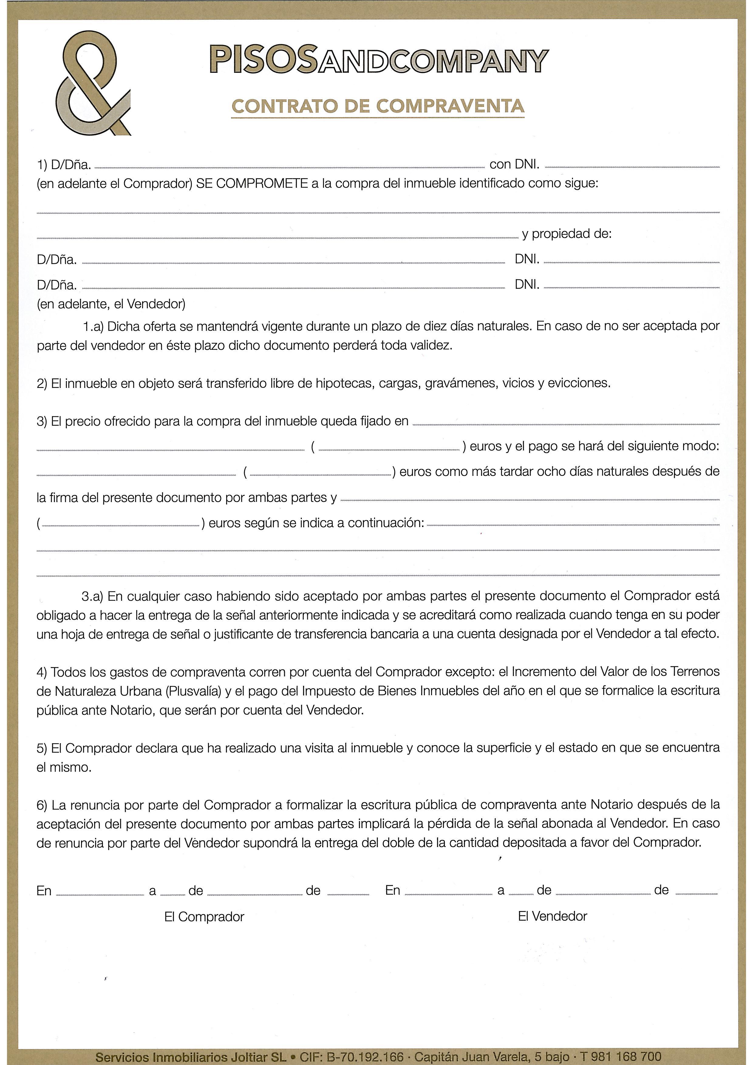 Contrato de arras blog for Contrato documento